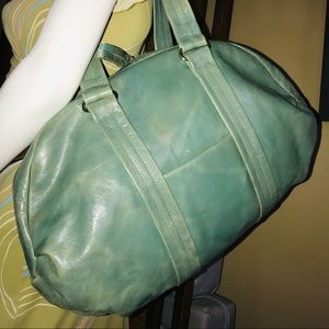 LATICO Green Waxed Leather XL Shoulder Bag
